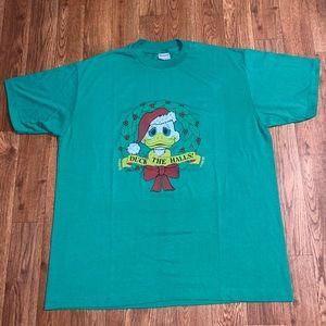 VTG 1987 Duck The Halls Shirt, Size: X-Large